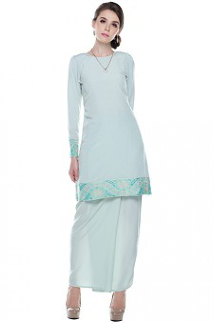 Safya Songket in Mint Green