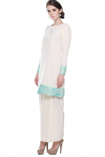 Safya Songket in Soft Yellow